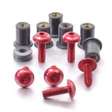 Pro-Bolt Kit de Pantalla de aluminio 6 Pernos grabado-Rojo Honda CBR600RR 05-06
