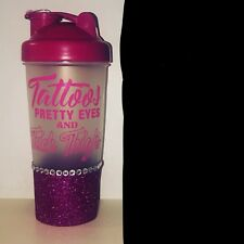 Pink Glitter Protein Shaker Bottle Tattoos Pretty Eyes And Thick Thighs