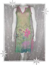 E - Robe Fantaisie Droite  Sans Manches Vert Rose 2026  Taille 2