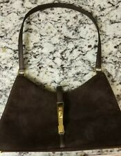 St John Chocolate Brown Suede Leather Purse