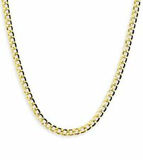 """14k Yellow Gold Cuban Curb Link Necklace Chain 24"""" 3.6mm"""