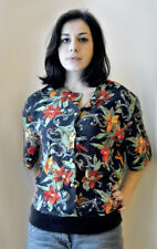 Size 16 Floral Button down Pull over Top. True Vintage 1980`s
