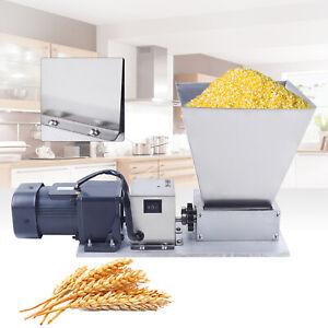 Electric Grain Mill Grain Grinder w/ 2 Roller Barley Grinder Malt Crusher 110V