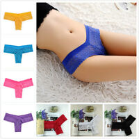Women Lace Knickers Thongs G String Briefs Underwear Lingerie Panties NEW