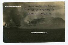K1153 Foto WK1 Polen Posen Kopylnik KSTA F. Flg. Abt. 49 Brand Flugzeug Schuppen