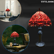 Tiffany New Style Lamps Stained Glass Lampshade Antique Base Mission Style