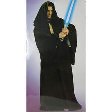 Jedi Hooded Robe Black full length Adult Size Velveteen