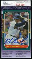 Mike Greenwell 1987 Donruss Rookies Red Sox Jsa Coa Signed Authentic Autographed