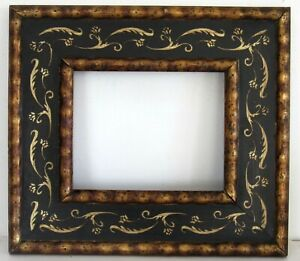 ART NOUVEAU, ART DECO  HAND PAINTED WOOD FRAME FOR PAINTING 10 X 8 INCH  (d-10)