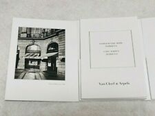 Van Cleef & Arpels Care Booklet Jewelry Service Authorized Dealer Limited Blank