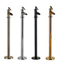 Free Standing Floor Mount Bathroom Tub Faucet Single Handle Tub Filler Mixer Tap