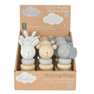 Baby Toddler Bambino Juliana Gift Classic Animal  Wooden Stacking Toy 10 months+