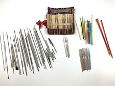 Vintage Crochet Hooks tatting & knitting needles lot Boye Dritz Susan Bates Case