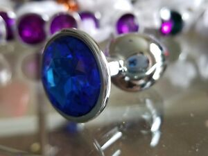 """Adult Sex Toy romance Silver Anal Butt Plugs Multiple Colors 1"""" Wide Unisex"""