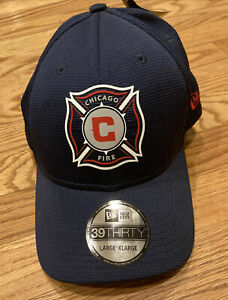 Large - Extra Large Chicago Fire Soccer MLS Fitted L/XL Hat Cap Men's Old Logo