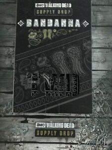 The Walking Dead Supply Drop Exclusive Bandana W/ DARYL WINGS NEW