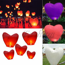 Heart Shape Paper Chinese Lanterns Fire Sky Wish Lanterns Lamp Wedding Party NEW
