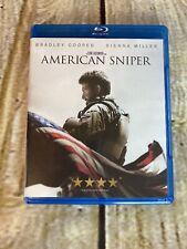 American Sniper Bradley Cooper & Sienna Miller Blu Ray And DVD Lot War Movie EUC