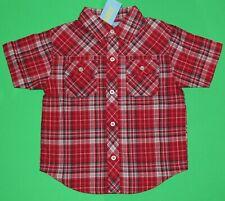 3t 3 Nwt Gymboree Wild West Red Plaid Cowboy Shirt Top Boys