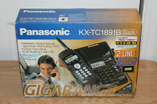 Panasonic KX-TC1891B 2 Line Answering Sys 900MHz Cordless Phone Vintage NEW
