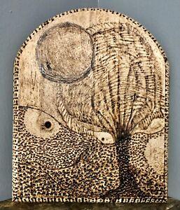 Original Wood Burning Pyrography-A Trypophobiac's Dream-Surreal Art by JAS