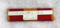 Honor Music Award ribbon pin pinback bar red gold