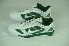 New Mens 17.5 NIKE Zoom Hyperfuse White Green Shoes $130 415932-133