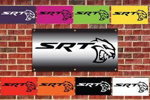 2015 Dodge Challenger SRT Hellcat Mopar Tribute Garage Banner