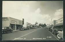 FL Hollywood RPPC 40's HARRISON STREET SCENE Cars STORES Hardware DRUGS No.S-182