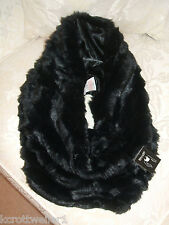 NEW PRIMARK BLACK FAUX FUR SNOOD / SCARF EXTRA WIDE THICK / WARM LOVELY QUALITY