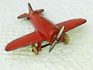 Vintage 1930s C.A.W. Slush Cast Metal Toy Senior Low Wing Mono Airplane #29