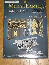 Fokker D-VII Metal Earth 3D Laser Cut Metal Model Fascinations Airplane