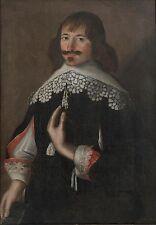Rare Large Antique 17th Century Portrait Oil On Canvas Painting JACKSON