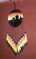 Hand Painted Buffalo & Wild Horses Ceramic Wind Chimes