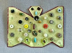 Antique Mounted Miniature Button Collection