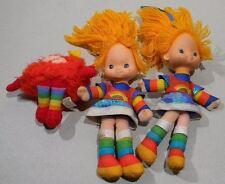 1983 Rainbow Brite & Sprite Doll Lot Of 3 By Hallmark ! Look !