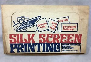 Vintage Silk Screen Printing Hobby Kit ALD Manufacturing Co.