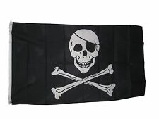 Jolly Roger Pirate Flag With Eye Patch 3 X 5 3X5 Feet Polyester New
