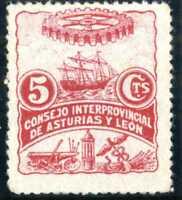 Sellos de España 1936-1937 Asturias y Leon nº 3 nuevo con charnela stamps