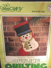 """Quiled Stocking Kit Sealed """"Snowman"""""""