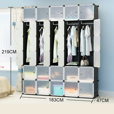 15 Boxes Interlocking Cube Storage Wardrobe Clothes Organizer 6 Tiers 5 Columns