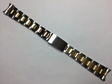 17MM TWO-TONE SOLID HEAVY OYSTER WATCH BRACELET BAND STRAP FOR ROLEX MIDSIZE