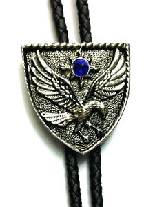 Shield Eagle Bolo Bootlace tie Country & Western Cowboy Line Dancing BT052