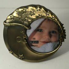 "💚 Circular New Vintage 1997 3.5""x3.5"" Moon Stars Baby Nursery Frame Burnes C5B"