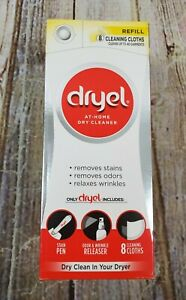 Dryel At Home Dry Cleaner Refill Kit 8 Dryer Activated Cleaning Cloth