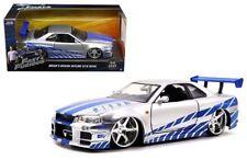Fast & Furious Brian's Nissan Skyline GT-R(R34) 1:24 Scale Diecast Jada Toys W/B