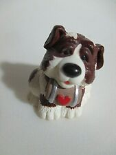 St. Bernard Pudgy Dog Figurine with Heart on His Keg and the Cutest Smile!