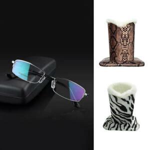 Velvet Plush PU Leather Eyeglass Sunglasses Storage Display Stand Holder GOR