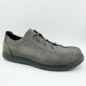 Crocs Venture Gray Nubuck Leather Casual Comfort Oxford Sneaker Shoes Men's 13