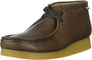 Clarks Stinson Hi Men's Brown Oily Leather Wallabee Style Lace up Boots UK 8 G